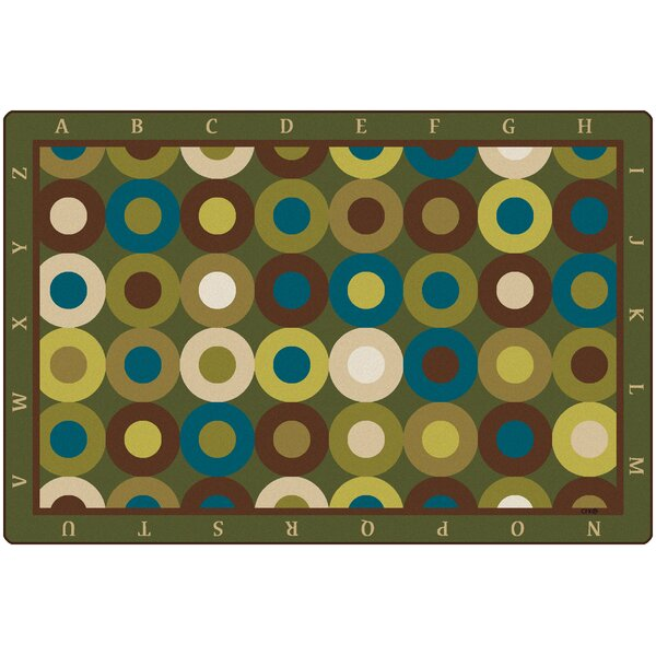 Calming Circles with Alphabet Kids Rug by Carpets for Kids