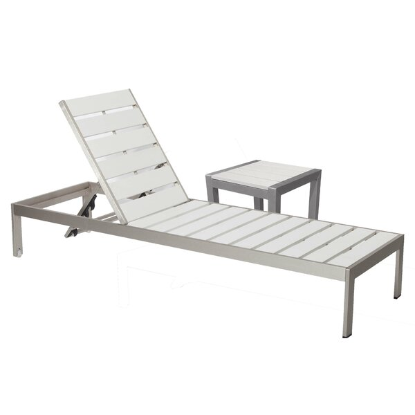 JSPH LRG Chaise Lounge Set with Table (Set of 2) by Wade Logan