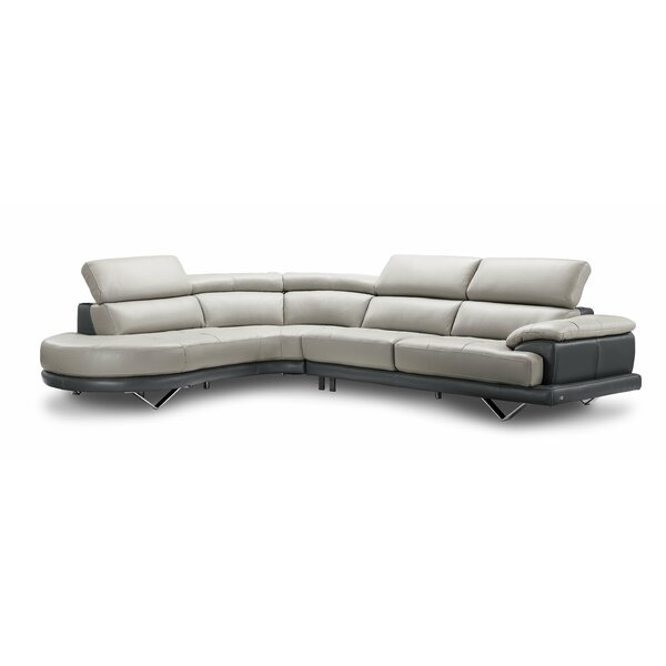 Kerry Leather Sectional By Orren Ellis Coupon