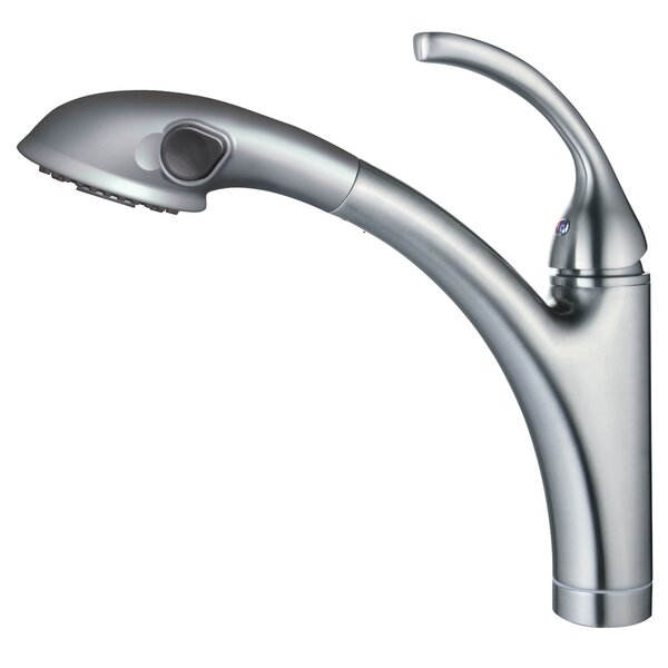 David Pull Out Single Handle Kitchen Faucet with Sprayer by Y Decor