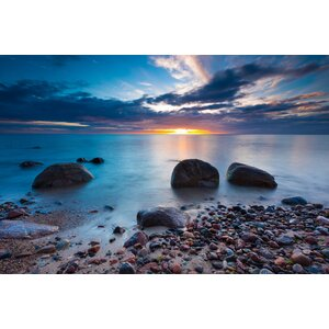 'Bluish Sunset' Photographic Print on Wrapped Canvas by Ebern Designs