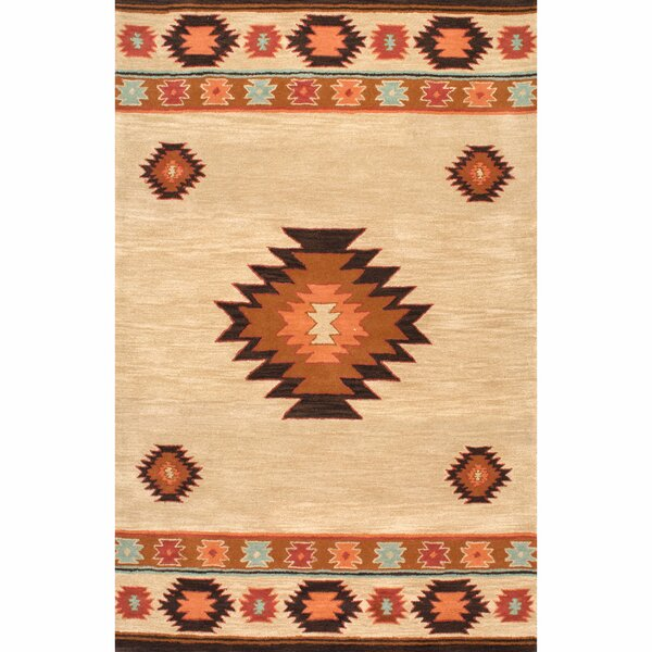 Claghorn Shyla Hand-Tufted Beige Area Rug by Loon Peak