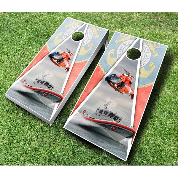 Coast Guard Cornhole Set by AJJ Cornhole