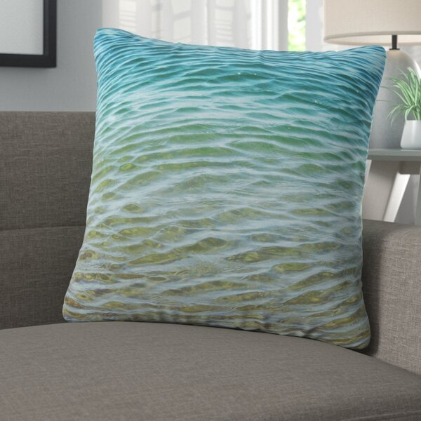 Rory Ombre Sea Outdoor Throw Pillow by Langley Street