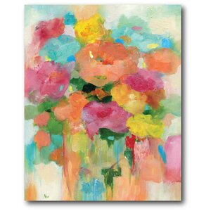 'Splashy Flower II' Painting Print on Wrapped Canvas by Courtside Market