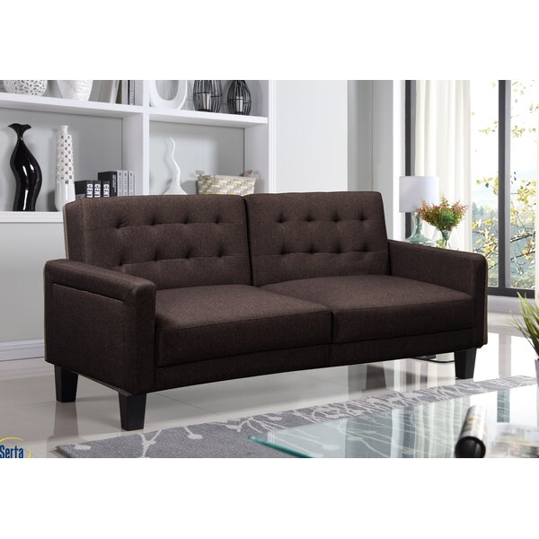 Ollie Double Cushion Back Convertible Sofa by Serta Serta