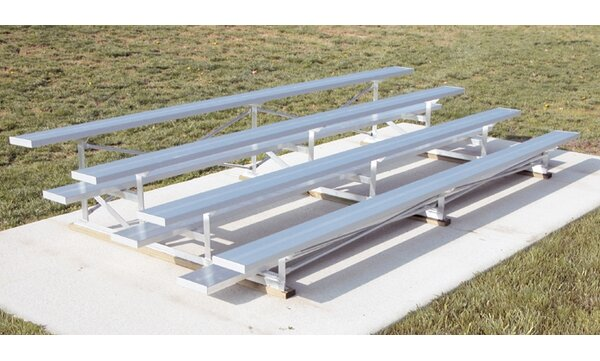 Low Rise Four-Row Aluminum Bleacher by Ultra Play