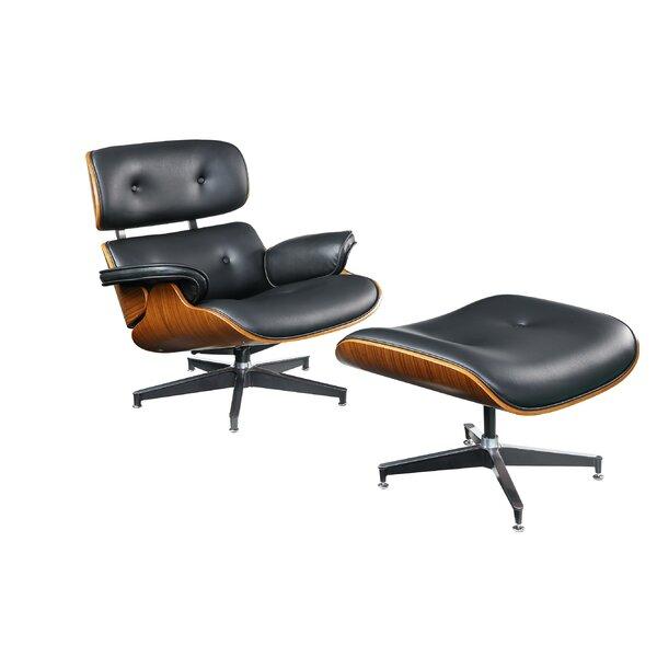 Braunstein Swivel Lounge Chair and Ottoman by Corrigan Studio