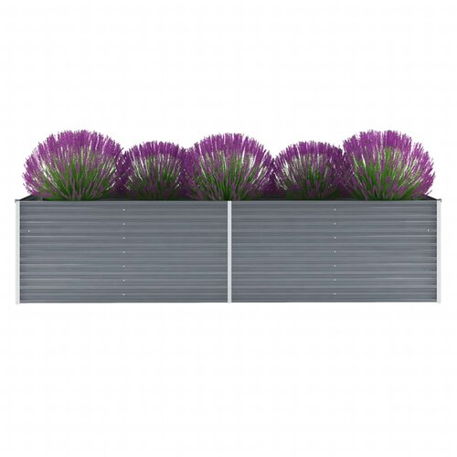 Garden Metal Planter Box Freeport Park Colour: Grey, Size: 7
