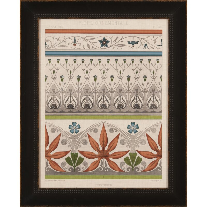 Ashton Wall Décor LLC Trends Persian Ornamental I Framed Graphic Art ...