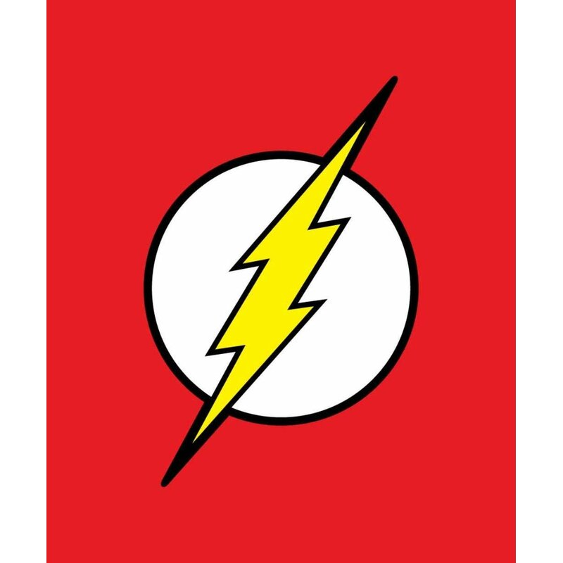crover dc comics justice league superhero the flash lightning logo