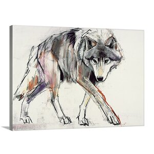'Wolf' by Mark Adlington Painting Print on Canvas by Great Big Canvas