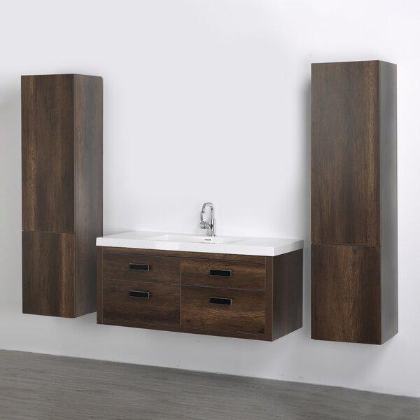 47 Wall Mounted Single Bathroom Vanity Set