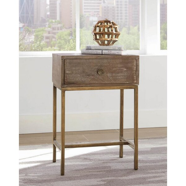 Blanding End Table with Storage by Foundry Select