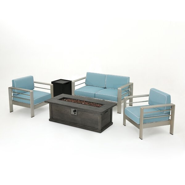 Royalston 5 Piece Sofa Setting Group with Cushions