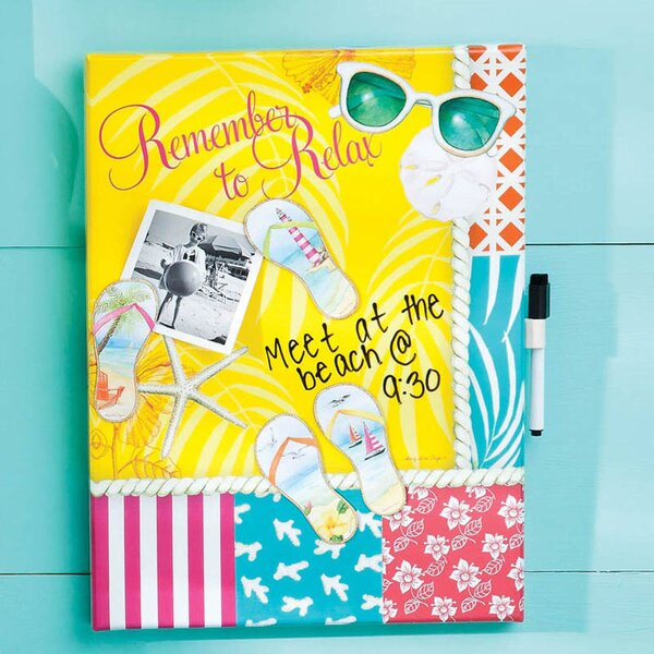 Dry Erase Memo Board with Magnets Calypso Summer by Cape Craftsmen