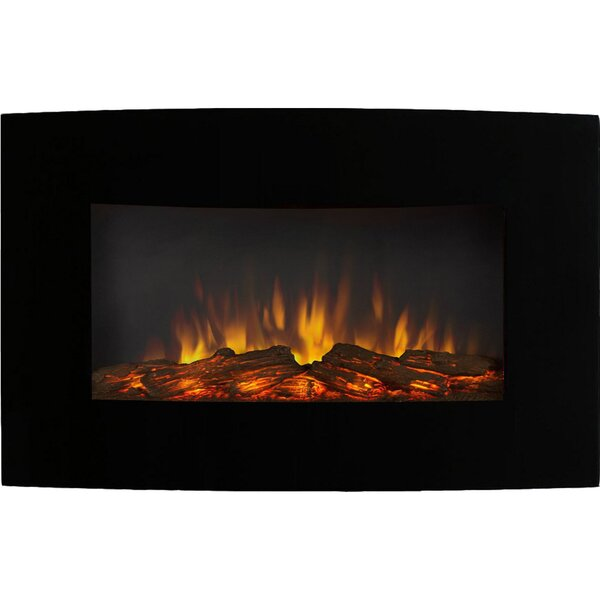 Callaway Wall Mounted Electric Fireplace by Wrought Studio