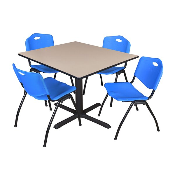 Hendrix Square Breakroom Table Set by Symple Stuff