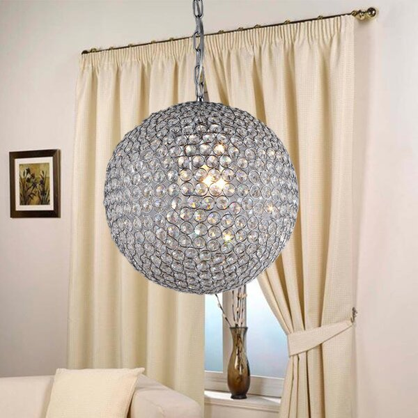 Syracuse 4 - Light Shaded Globe Chandelier By House Of Hampton