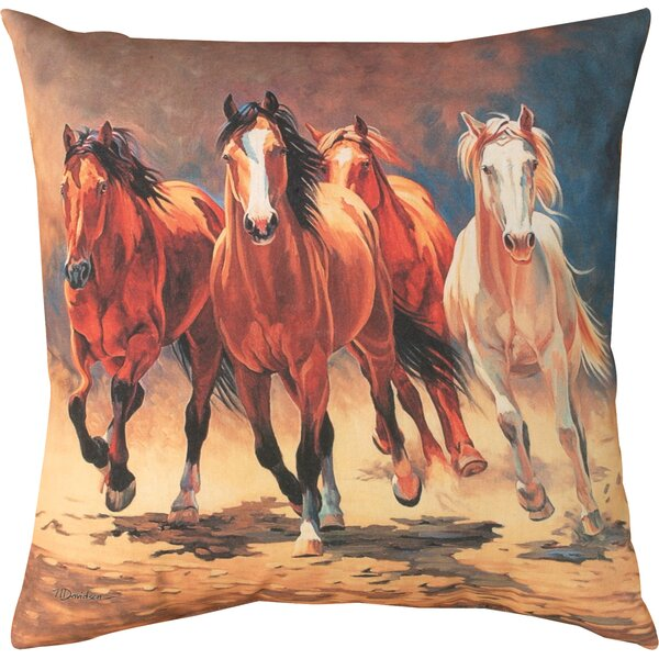 Hoofbeats & Heartbeats Knife Edge Throw Pillow by Manual Woodworkers & Weavers