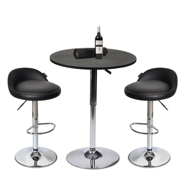 Adelmar 3 Piece Bar Height Dining Set by Orren Ellis