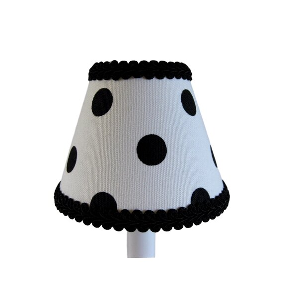 7 H Fabric Empire Lamp shade ( Screw on ) in White/Black