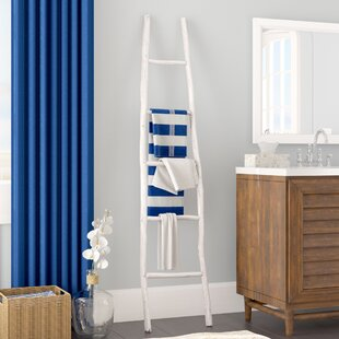 Painted Wood 6 ft Blanket Ladder ByBeachcrest Home