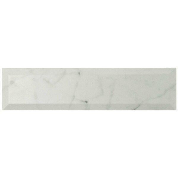 Karra Carrara 3 x 12 Ceramic Subway Tile in Matte Metro White/Gray by EliteTile