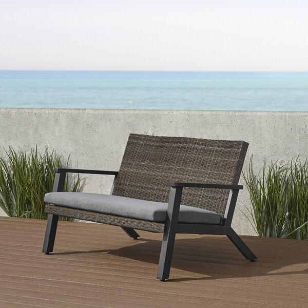 Norwood Wicker Bench By Real Flame