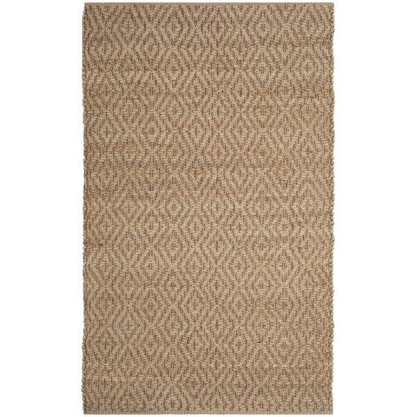 Munhall Fiber Hand-Woven Natural/Brown Area Rug by Gracie Oaks