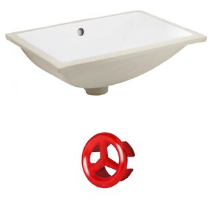 CSA Ceramic Rectangular Undermount Bathroom Sink with Overflow By Royal Purple Bath Kitchen