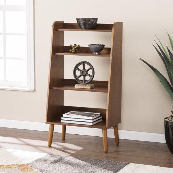 Review Bracken Midcentury Modern Ladder Bookcase