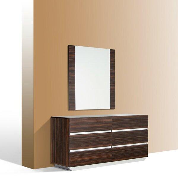 Decastro 6 Drawer Double Dresser with Mirror by Orren Ellis