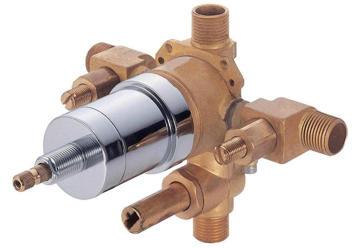 Danze Accessories Pressure Balance Mixing Valve with Diverter and ...