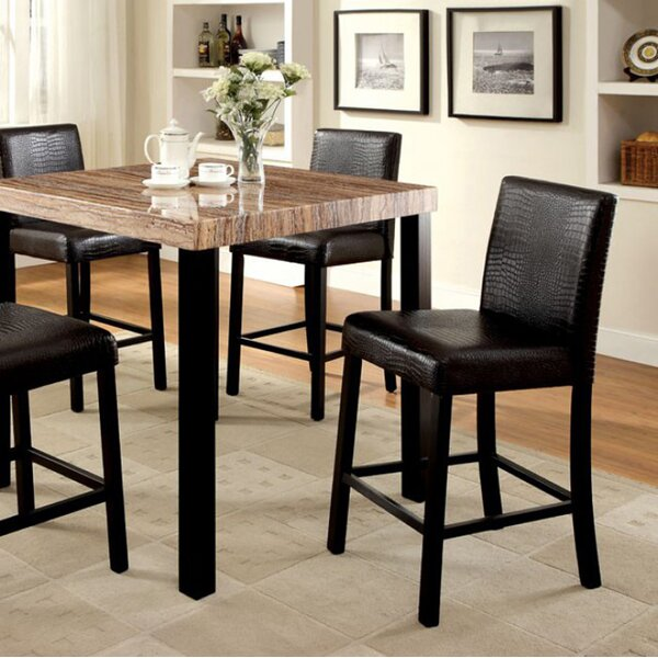 Crisfield Contemporary Counter Height Dining Table by World Menagerie