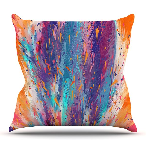 Colorful Fire by Danny Ivan Outdoor Throw Pillow by East Urban Home