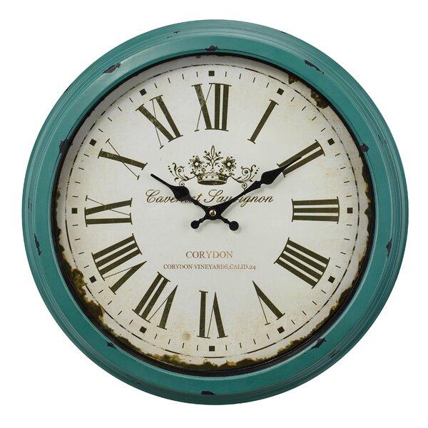 Carlino Styled 18 Wall Clock by Gracie Oaks