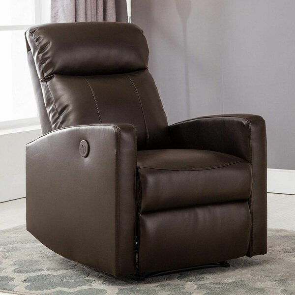 Atilia Modern Leather Power Recliner by Latitude Run