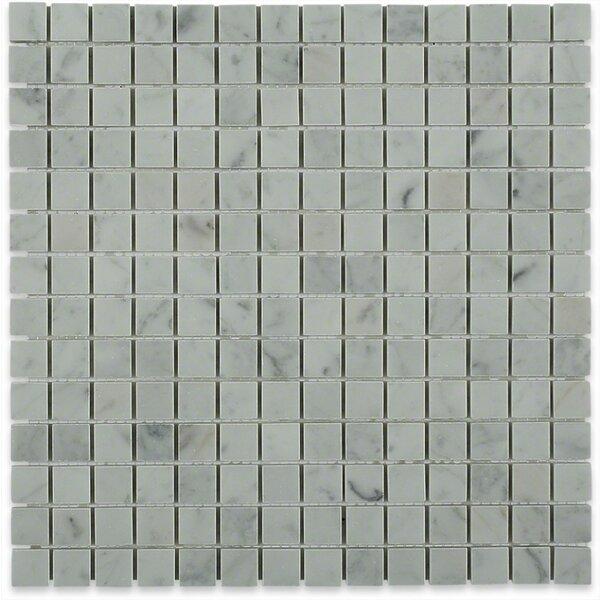 Brick Joint 0.75 x 0.75 Marble Mosaic Tile in Carrara White by Splashback Tile