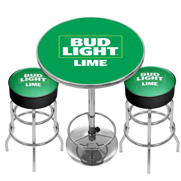 Bud Light 3 Piece Pub Table Set By Trademark Global Design