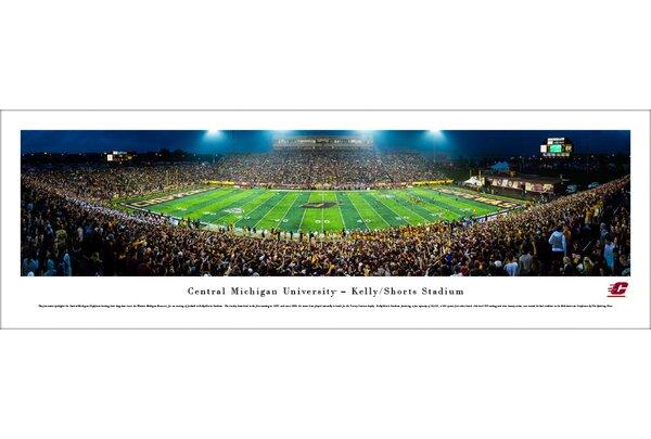 NCAA Central Michigan Football 50 Yard Line Photographic Print by Blakeway Worldwide Panoramas, Inc
