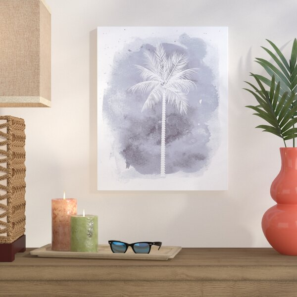 B Palm Painting Print on Wrapped Canvas by Bay Isle Home