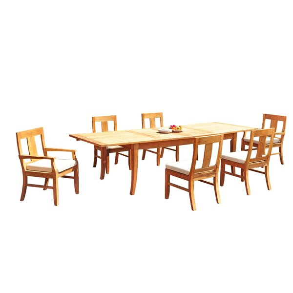 Lamson 7 Piece Teak Dining Set by Rosecliff Heights