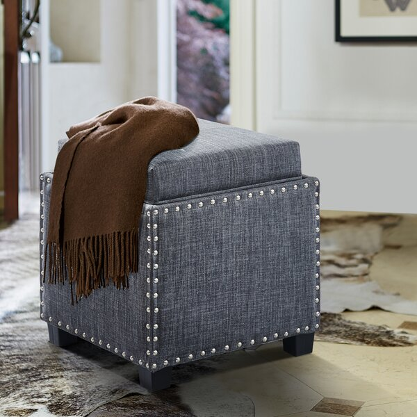Hunsinger Cube Ottoman by Charlton Home