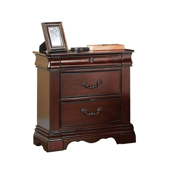 Weathersby 3 Drawer Nightstand by Astoria Grand
