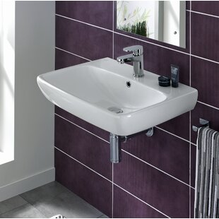 Buy clear Energy Ceramic 24 Wall Mount Bathroom Sink with Overflow By Bissonnet