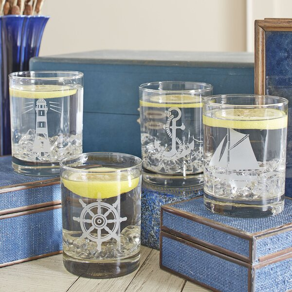 Nautical Lowball Glasses (Set of 4) by Birch Lane™
