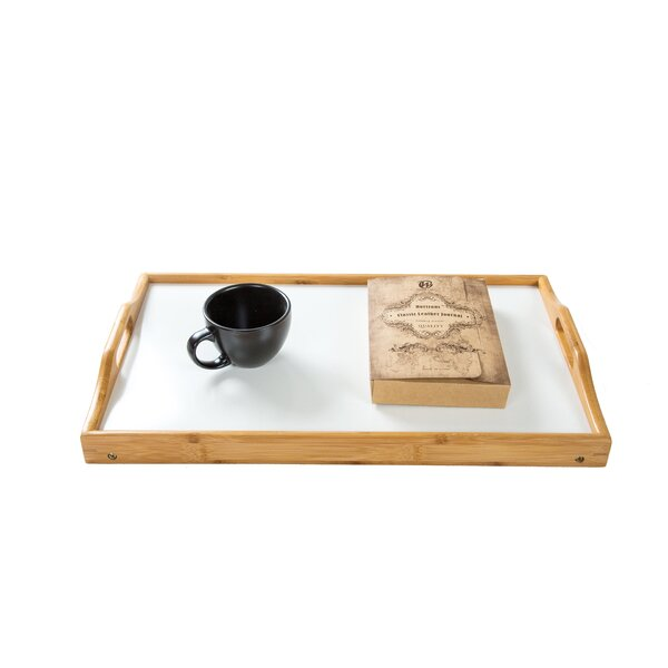 Bamboo Folding Bed and Laptop Tray With Handles by Trademark Innovations
