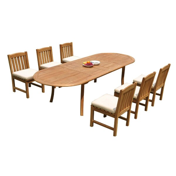Ryley 7 Piece Teak Dining Set by Rosecliff Heights