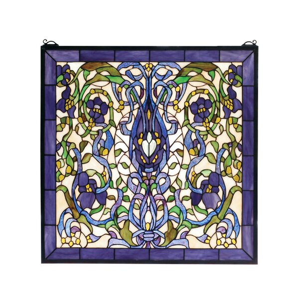 Floral Fantasy Stained Glass Window by Meyda Tiffany